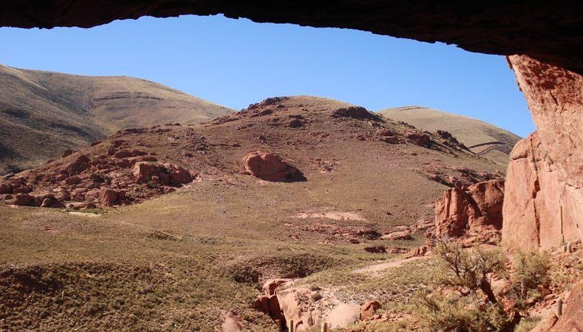 Vista desde el interior de la cueva del Inca