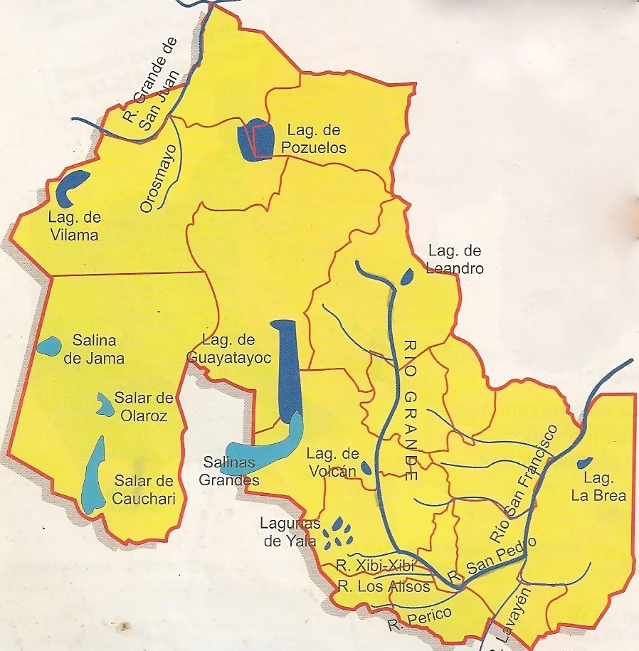 Mapa de Jujuy Laguna de Pozuelos