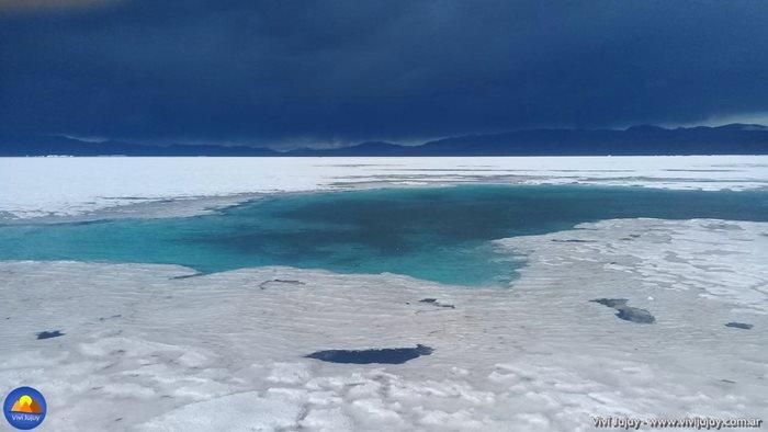 Pozo de aguas turquesa